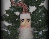 Primitive Santa Head Ornament