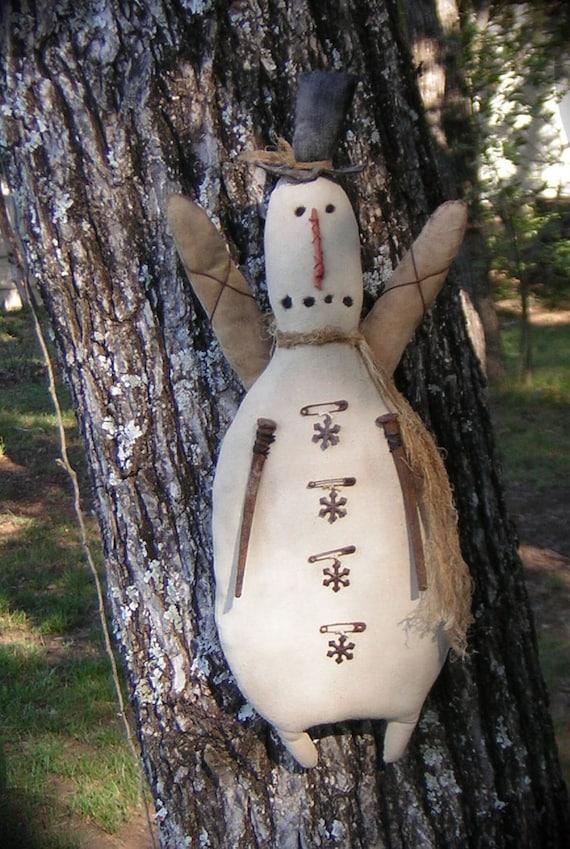 Primitive Snowman Angel