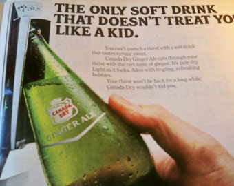 Vintage Ad - Ginger Ale- Classic Ad from 1960. Original