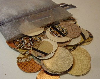 Victorian Style - Circle Embellishments - Large Variety Pack - Die Cut Circles - Scrapbooking and Altered Art