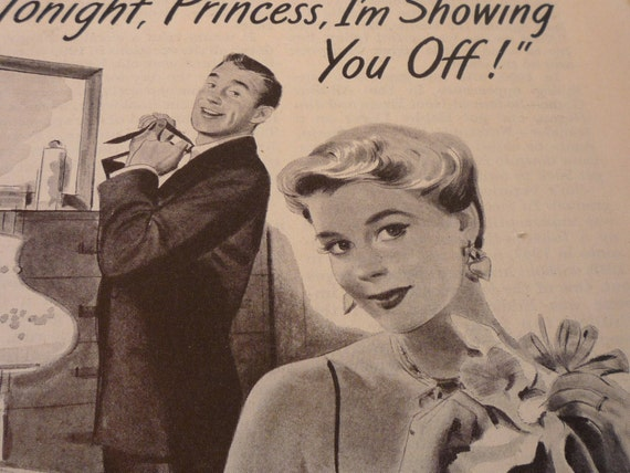 Vintage Ads - Tonight Princess - Living in a Mad Men World - 1940s original ad