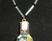 Flask shaped lucky bottle necklace