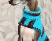Custom Crocheted Small Dog Sweater in Princess Rasha (Limited Edition)