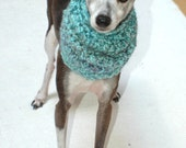 Italian Greyhound (Small Dog) Snood or Neck Warmer in Ocean Breeze Color