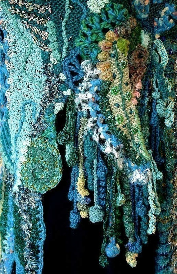 Flamboyant Fringes - freeform crochet PDF tutorial