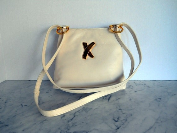 Paloma Picasso Cross Body Bag // Bone White Leather