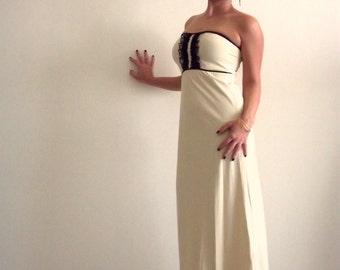 CRAZY SALE Maxi evening dress, Strapless maxi evening dress, Sexy maxi dress, Sexy strapless dress, Sexy prom dress, Maxi prom dress