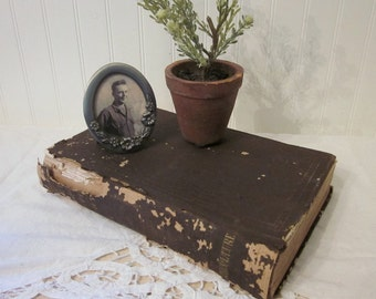 Antique 1855 Agriculture book, Report of the Commissioner of Patents for the Year 1855 vintage HC distressed shabby farmhouse prop