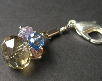 Crystal Keychain. Crystal Pendant. Rainbow Crystal Charm. Keyring, Zipper Pull, Purse Charm or Phone Charm. Handmade Charm.