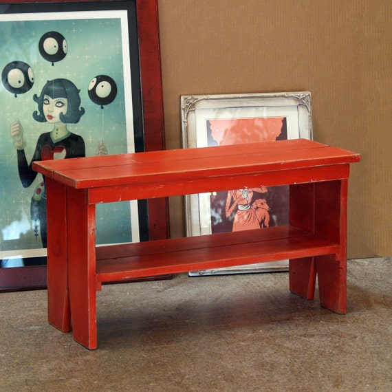 Unique Wood Benches: Handmade Sturdy Wooden Bench In Color Of Your By