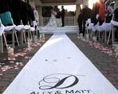 Wedding Aisle Runner - Personalized - White