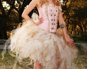 Ivory and Gold Tutu - Adult Tutu - Women's One Size - Steampunk Lolita - Shabby Chic
