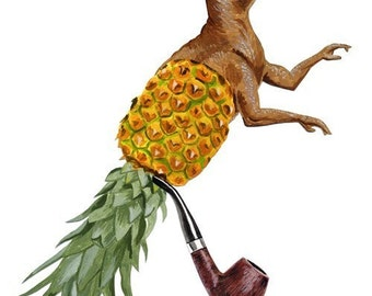 fine art print - Sir Dino Pineapple