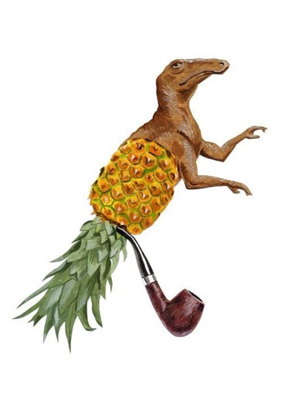 fine art print - Sir Dino Pineapple