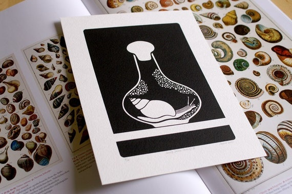 Curiosity Cabinet Series 2, No.3 - Limited Edition Screenprint (Snail)