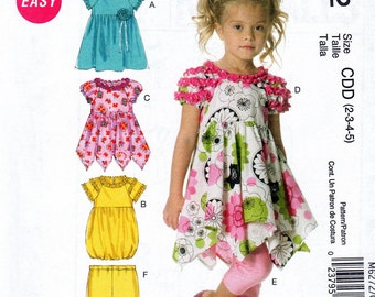 McCalls M6272 Childrens Girls Easy Sewing Pattern for Dress and Leggings Size CDD  2 3 4 5