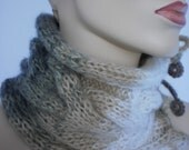 20% OFF Hand Knitted  Multicolor Cowl Scarf  Neck Warmer