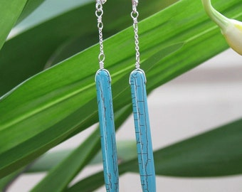 Turquoise Spear Earrings