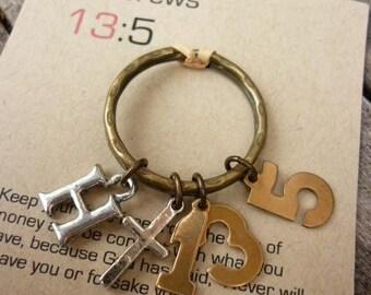 Christian keyring, Scripture KeyringHebrews 13:5-Never Will I Leave You Or Forsake You