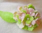 Hydrangea flower applique -  SET OF 2