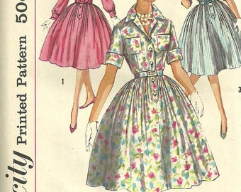 Vintage 50s Sewing Pattern // Simplicity 3039 // Dress // Size 16 Bust 36
