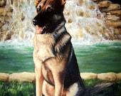 Custom German Shepherd Dog Pet Portrait Oil Painting by Jody Ball Art