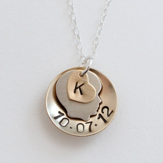 Baby Gift Jewelry For Mom : Items similar to baby boy birth date necklace