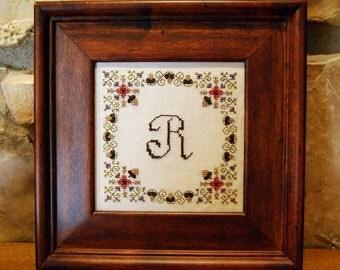 Autumn Acorns Monogram - pattern with Free Alphabet