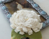Flower Fabric Tutorial - Sissi Chrysanthemum and leaves - PHOTO tutorial - fabric/felt - INSTANT DOWNLOAD