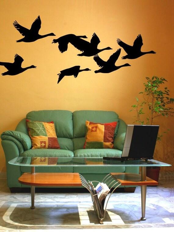 Flying Geese, Bird Wall Decal, Woodland Nursery Decor, Nature Wall Decal, Hunting Wall Decal, Man Cave Wall Art, Dorm Decor, Dorm Wall Art