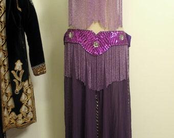 Vintage Beaded Professional Bellydance Full Costume