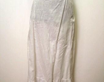 SALE was 40.00 Vintage Victorian 1890's White Cotton Eyelet Petticoat Skirt XS