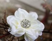 floral bridal fascinator vintage rhinestone crystal center by serenitycrystal on Etsy- Song bird