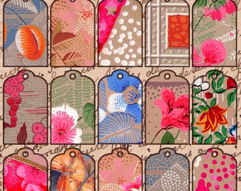 Art Deco Gift Tags French Wallpaper 1930s Instant Download digital collage sheet 019