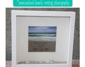 Shadow Box Frame Personalized Beach Writing Photograph