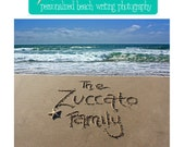 YOU PRINT - Personalized Beach Writing Photograph - Digital JPG