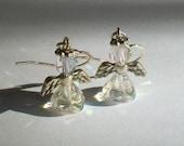 October Birthstone Angel Earrings