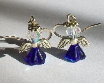 September Birthstone Angel Earrings