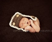 Aviator Set Hat and Diaper Cover Newborn Photo prop in Brown / Photo Shoot All babies 2pc / Aviator Flyer Bomber Pilot Hat infants girl boy