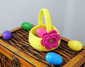 Spring Basket with Flower Crochet Pattern PDF - INSTANT DOWNLOAD