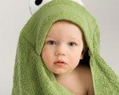 PERSONALIZED Frog Hooded Towel