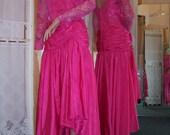 WHOLESALE LOT of 8 Unworn Vintage Taffeta Dresses 198.00