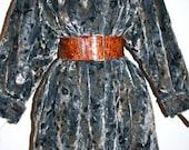 JAEGER Faux Fur Coat Vintage Plush Leopard Print Jacket - AUTHENTIC-