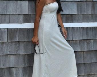 Hemp Organic Cotton Maxi Dress  ( hemp organic cotton)