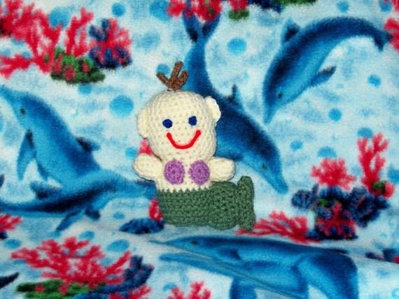 Baby Mermaid Doll Purple Seashell
