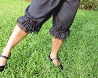 Black Knee Length Womens Bloomers