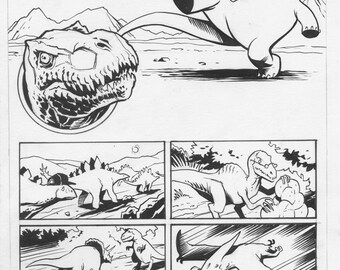 Dinosaurs comic art by Benjamin Dewey