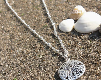 Sterling Silver Sand dollar Pendant necklace
