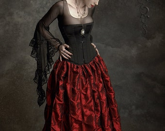 Isabella Romantic Gothic Vampire Skirt Handmade to Measure Bespoke Fairy Tale - Dark Romantic Couture by Rose Mortem