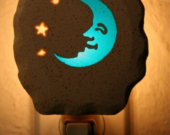 Blue Moon Face Nightlight